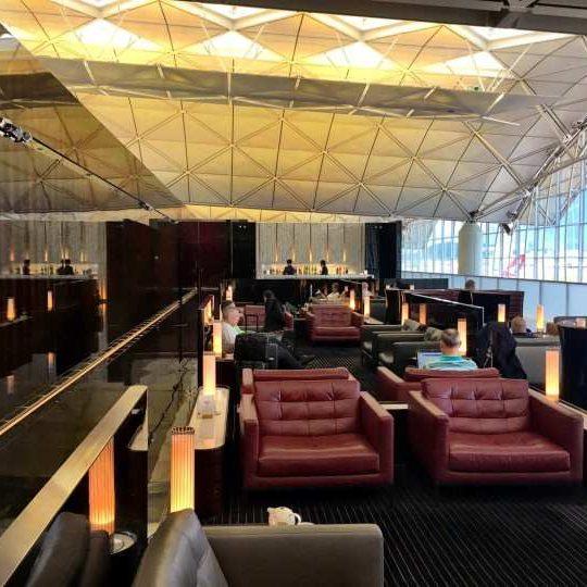 Cathay Pacific Lounge Hong Kong
