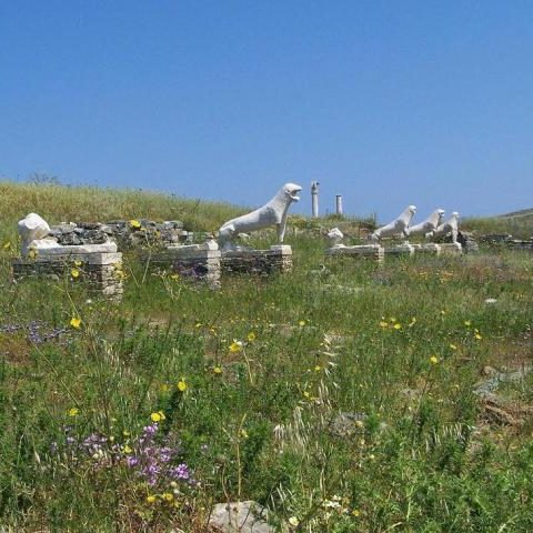 Island of Delos, Cyclades, Greece